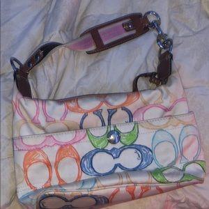 Multi color coach purse